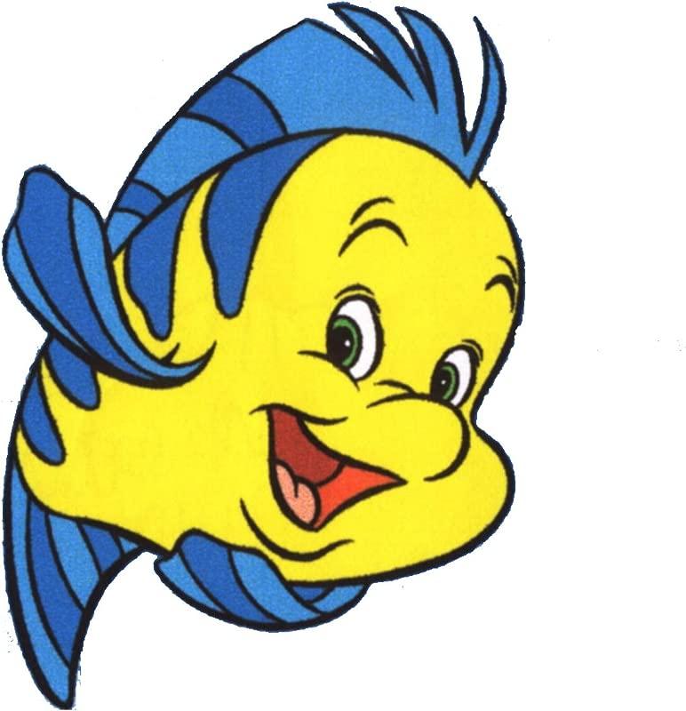 The Little Mermaid Flounder Wall Decal Kids Sticker Cartoon 4 X 5