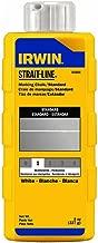 IRWIN Tools STRAIT-LINE 64904 Standard Marking Chalk, 8-ounce, White (64904)