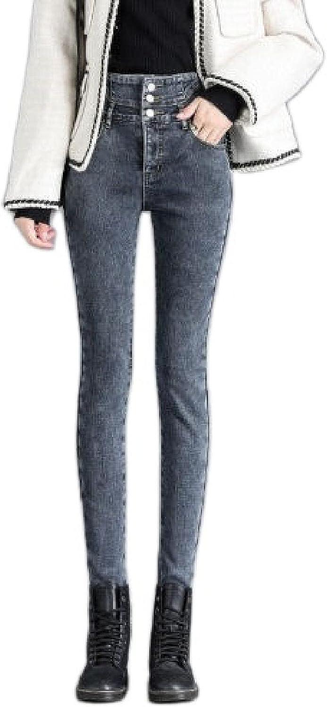 Women High Waist Warm Jeans Button 5 ☆ popular Women's Fashion Penci Easy-to-use Stretch