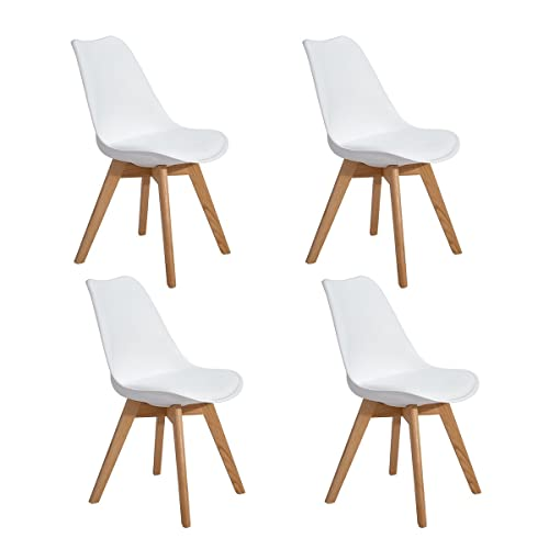 White Chairs Oak Legs Amazoncouk