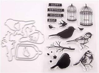 Fogun Nid'Oiseaux Fleur Tampons Clairs Scrapbooking Stamp En Silicone Pour DIY Loisirs Créatifs Décor