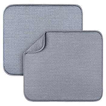 2 Pack Dish Drying Mats for Kitchen Microfiber Dish Drying Rack Pad Kitchen Counter Mat - 18X16 Inch