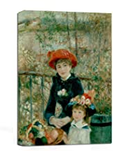 JunTung Two Sisters by Pierre-Auguste Renoir Art Reproduction Print Canvas Art Wall Decor Framed for Office Home Decor 12