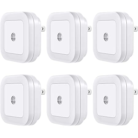 Vont 'Lyra' LED Night Light, Plug-in [6 Pack] Super Smart Dusk to Dawn Sensor, Night Lights Suitable for Bedroom, Bathroom, Toilet,Stairs,Kitchen,Hallway,Kids,Adults,Compact Nightlight, Cool White