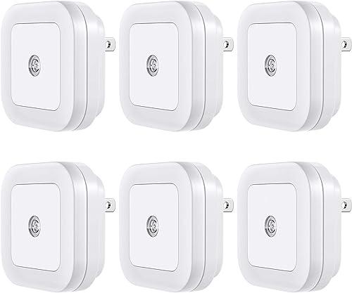 Vont 'Lyra' LED Night Light, Plug-in, (6 Pack) Super Smart Dusk to Dawn Sensor, Night Lights Suitable for Bedroom, Ba...