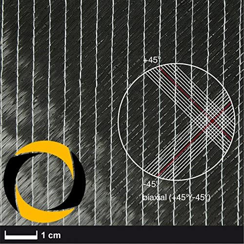 Ascending Composites Kohlegelege 100 g m2 (biaxial, 50k) 127 cm, Rolle 1 m