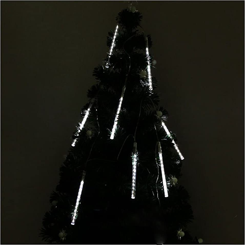 文句を言う私たち自身部門MyMei LEDツララスティックライト イルミネーション ストリングライト 144球 流星雨8本セット 防水 バーディー クリスマス装飾ライト LEDガーデンライト ツリー電飾 光が流れる イベント ツリー飾り  (ホワイト)