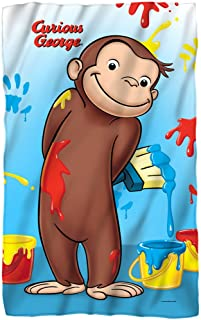 Curious George - Paint Fleece Blanket 35 x 57in