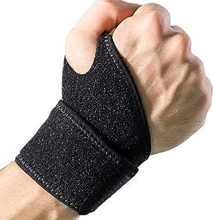 DanziX Wrist Support Braces,  2 Pack Adjustable Athletic Wrist Wrap Bracer