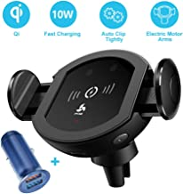 PFCKE Fast Wireless Car Charger - Automatic Wireless Car Charger Mount - Car Phone Mount with Air Vent - 10W Qi Car Charger Compatible with iPhone Xs Xr Xs Max X 8 8 Plus Samsung S9 S9 Plus S8 note8