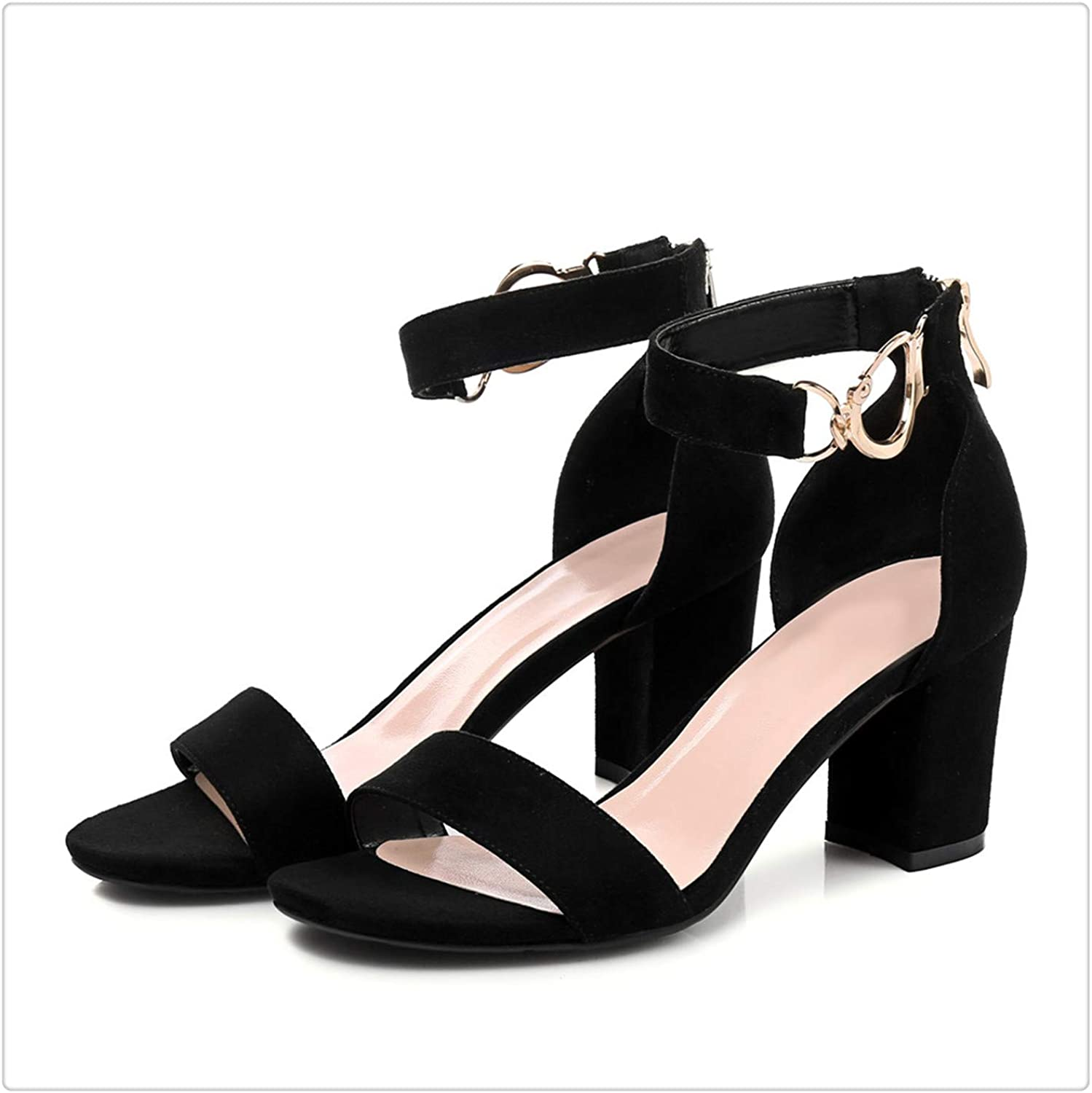 Yyixianma Fashion Buckle 6.8cm Sandals Women Sexy Ladies Summer shoes