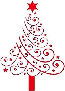 Woohooens Adornos de Navidad Vinilos para Ventanas Adhesivos Navideños Murales Decorativos Pared Arbol Navidad Renos Exter...