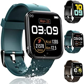 KCZAZY Smart Watch for Android and iOS Smart Phones, All-Day Activity Tracker with Heart Rate Sleep Monitor, 1.3