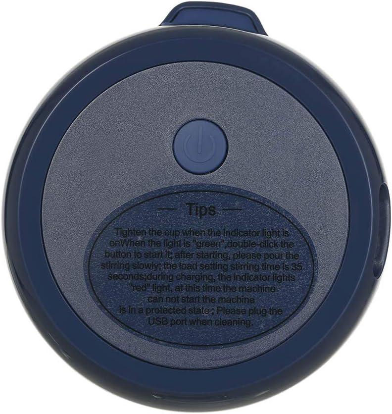 Hylotele 280ml Mini exprimidor portátil de Frutas eléctrico USB Recargable batidora licuadora máquina Deportiva Mini Botella de Comida Taza de Jugo Exprimidor de 280ml Blue