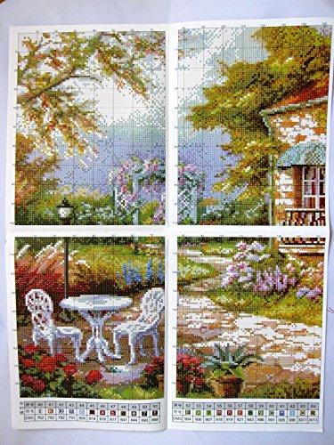 GAMBARUSHOP『クロスステッチ刺繍キット欧州花庭園』