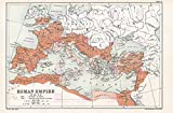 MAP REPRO Antique BARTHOLEMEW Rome 69AD Roman Empire Large