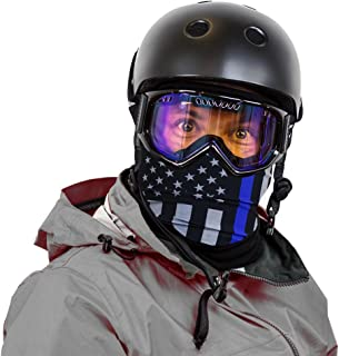 Hoo-Rag Sub Zero Seamless Fleece Face Mask & Neck Warmer Combo Great for Skiing, Ice Skating, Ice Hockey, Sledding, Ice Fishing, Snowboarding & Snowmobiling