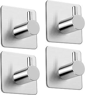 Adhesive Hooks Heavy-duty Hook Towel Hooks, 6.8kg Bathrobe Hooks Hooks Wall Hooks Stainless Steel Bathroom And Kitchen Tow...