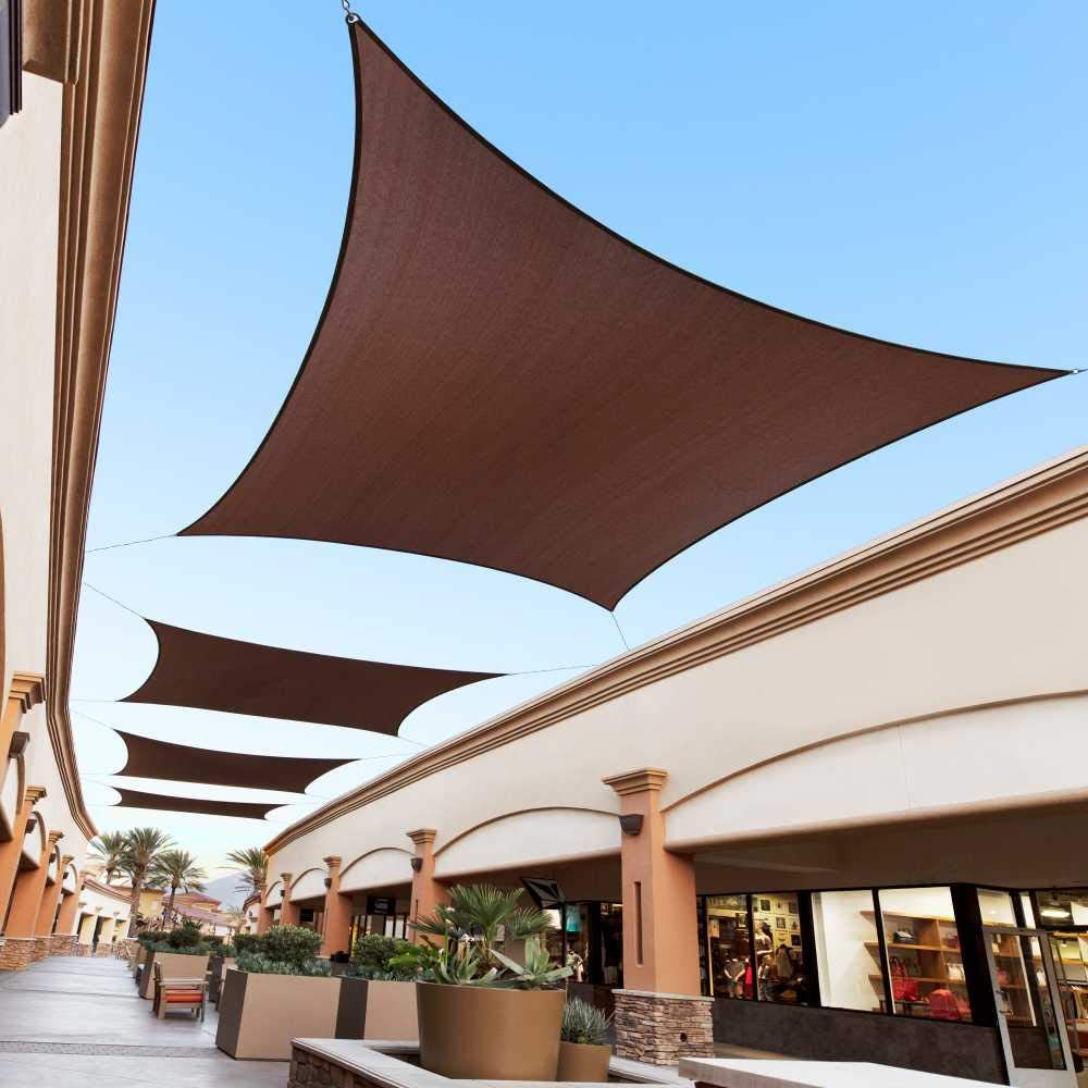 Royal Shade 10' x 21' Max 46% OFF Brown Size Custom Make Sun to Order Popular shop is the lowest price challenge
