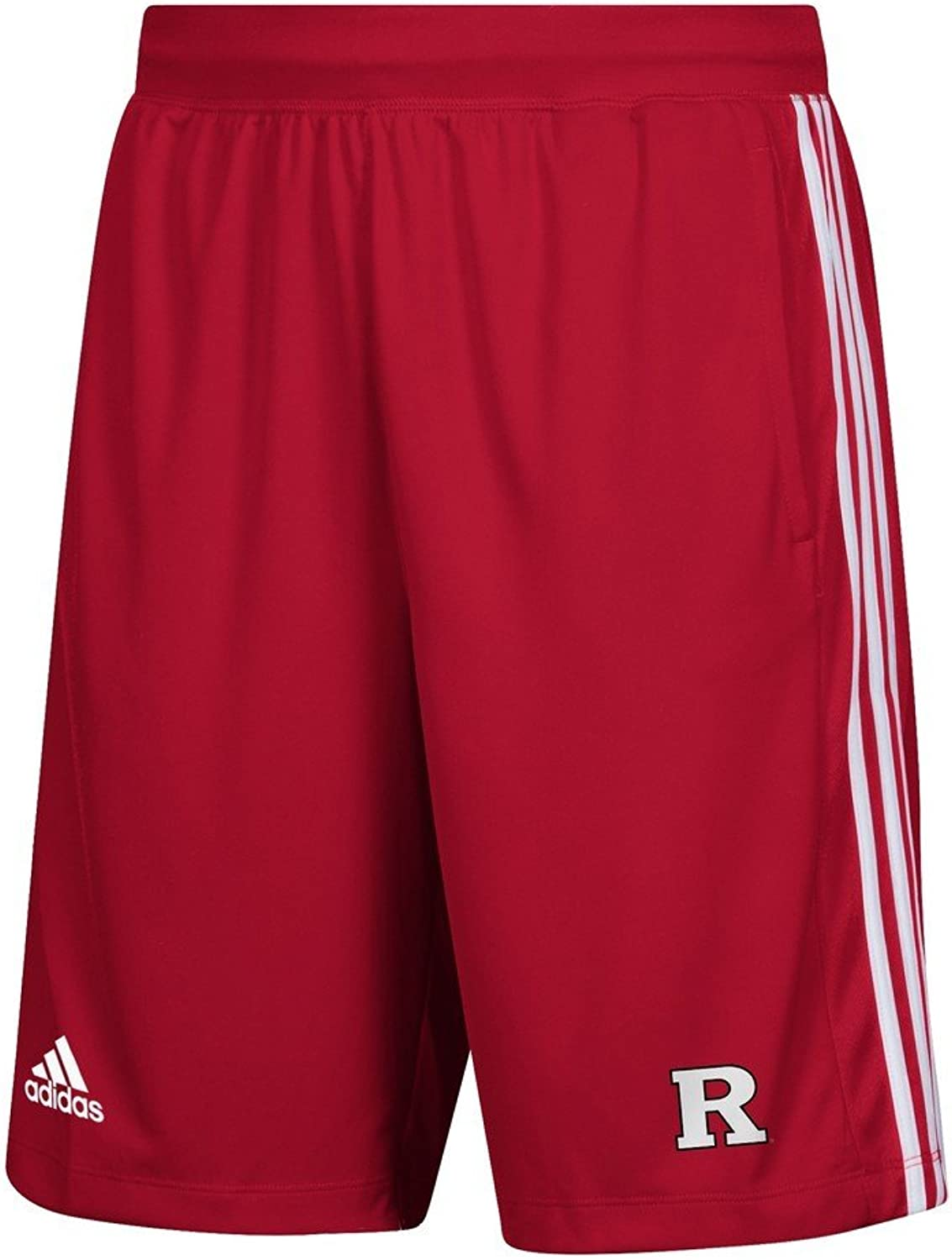 Adidas Rutgers University Men's Shorts 3 Stripes Knit Short