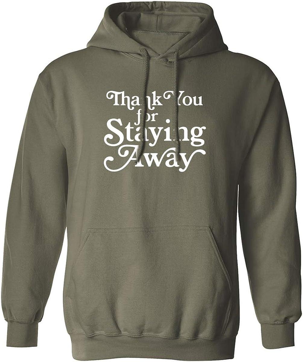 zerogravitee Thank You for Staying Away Adult Hooded Sweatshirt