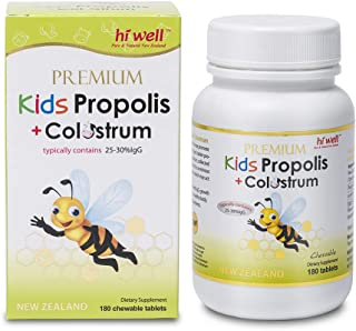 Hi Well Premium Kids Propolis + Colostrum 180 Chewable Tablets