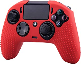 YoRHa Studded Dots Silicone Rubber Gel Customizing Cover for NACON Revolution PRO PS4 controller [Origin & V2] x 1(Red)