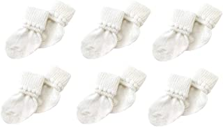 6 Pack Cotton Unisex Baby Socks (3-6 Months) by Nurses Choice
