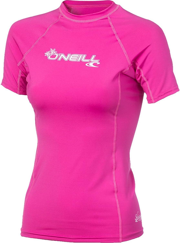 O'Neill UV Sun Predection Women's Basic Skins ShortSleeve Crew Rashguard Top