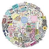 100pcs Inspirational Stickers Waterproof Vinyl...