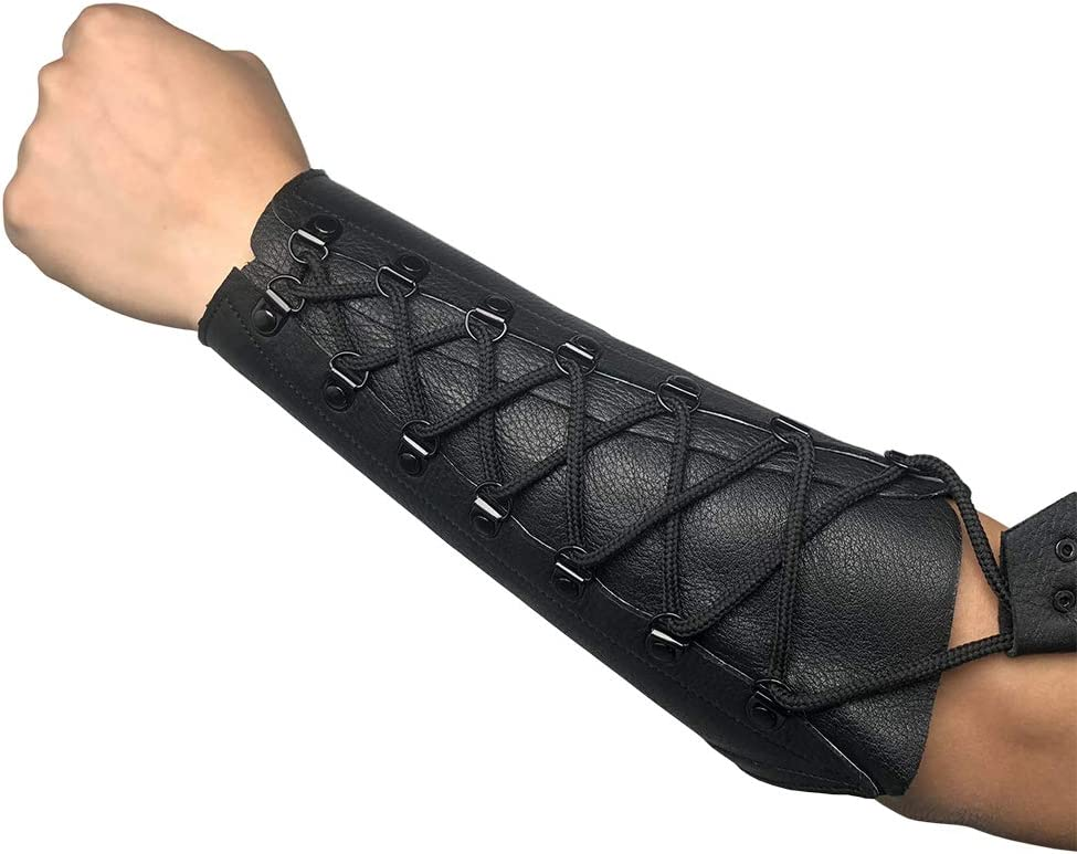 starlingukpk Quality Soft Suede Leather Archery Arm Guard Shooting Arm Guard.