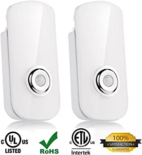 2 Pack LED Night Light Flashlight Motion Sensor Cut Light 3-in-1, Rechargeable Emergency Light, Energy Saving Auto Sensing Portable Wall Mount Light - White