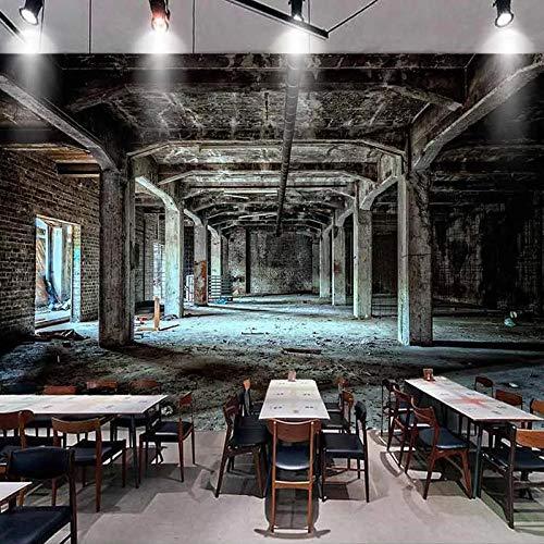 Muurschildering behang retro nostalgische industriële stijl 3D ruimte graffiti kunst muurschildering restaurant cafe bar achtergrond decoratie-250 * 175cm