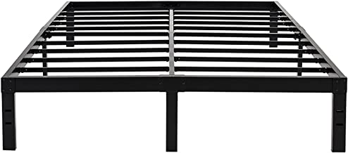 45MinST 14 Inch Reinforced Platform Bed Frame/3500lbs Heavy Duty/Easy Assembly Mattress Foundation/Steel Slat/Noise Free/No Box Spring Needed, Twin/Full/Queen/King/Cal King(King)