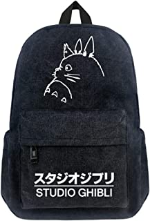 Double Villages Anime My Neighbor Totoro Cosplay Daypack Bookbag College Tasche Rucksack Schultasche Schwarz B