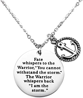 Encouragement Bracelet - Fate Whispers to The Warrior You Cannot Withstand The Storm and The Warrior Whispers Back I Sm The Storm, Inspirational Jewelry Gifts for Her
