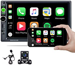 $89 » Hikity Car Stereo Double Din Carplay in-Dash Digital Media 2021 New 7 Inch Touchscreen Radio, Bluetooth FM Receiver, Mirro...