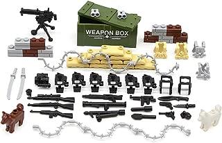 Feleph Military Accessories Set Guns Weapons Dog Modern SWAT Sandbag Body Armor WW2 Bricks Building Blocks Set Model Toys Compatible for Major Brands