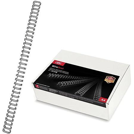 GBC RG810610 Lot de 100 Peignes métalliques WireBind Noir, 9,5 mm