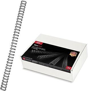 GBC RG810510 Lot de 100 Peignes métalliques WireBind Noir, 8 mm
