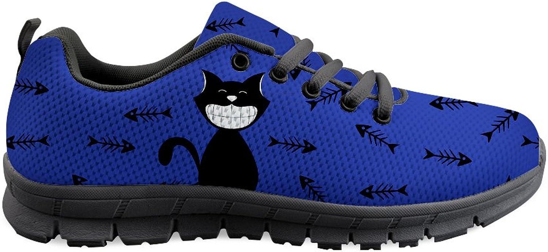 Nopersonality Cartoon Cats Pattern Ladies Running Sneakers Lightweight Walking shoes