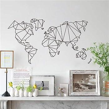Mapa del Mundo Pegatinas de pared vinilo adhesivo decorativo para las niñas habitación de niño Wall Stickers salón dormitorio TV fondo Inicio, Sencillo Vida: Amazon.es: Bricolaje y herramientas