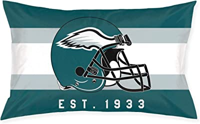 Marrytiny Custom Rectangular Pillowcase Colorful Philadelphia Eagles American Football Team Bedding Pillow Covers Pillow Cases for