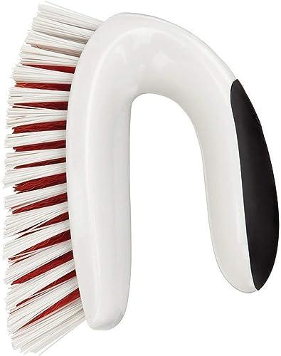 OXO Good Grips, Brosse multi-usages, Brosse de nettoyage pour la maison, Salle de bain, Cuisine, Extérieur, Blanc
