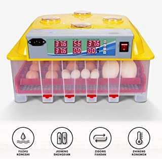 Incubator Egg Incubator Automatic Hatcher Household Small Hatcher Machine Dual Power Supply for Duck Egg Bird Egg Turkey Egg Poultry Eggs (Size : 48 eggs)