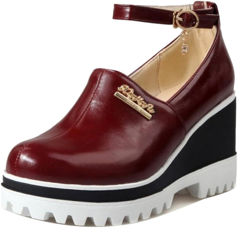 TAOFFEN Women's Wedge Heel Court shoes