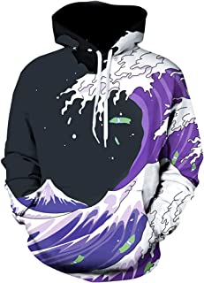 Unisex 3D Novelty Hoodies Graphic Funny Christmas Galaxy Hoodies Pullover Sweatshirt Pockets