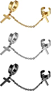Best cross drop hoop earrings Reviews