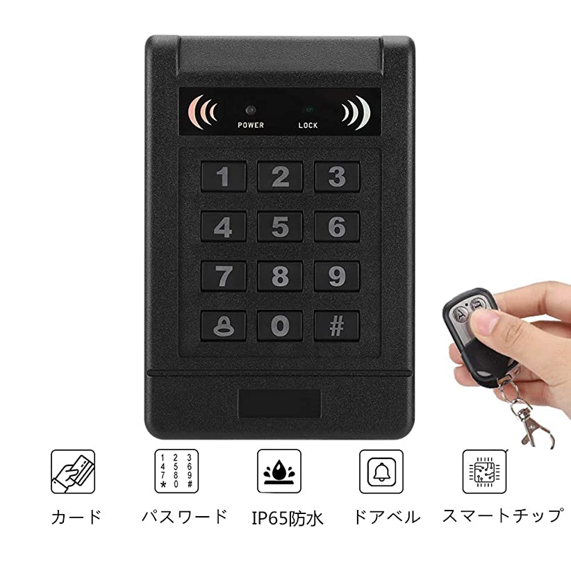 受け取る癌建築ドアアクセス管理システム RFIDカードパスワード ドアアクセス管理ロック ホームセキュリティー アクセス管理キッ RFID出口のキー付き キーパッド