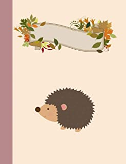 Woodland Hedgehog Primary Story Journal Composition Book: Kindergarten to Year 2 Draw and Write Creative Writing Notebook,...